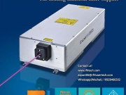 The high-power nanosecond ultraviolet laser engraves the mar