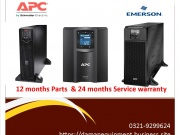UPS APC 3kva 12 months parts & 2 years service warranty.