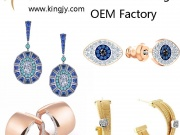 Custom earrings gold plated silver jewelry supplier and whol